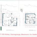 2 - Ground Floor & First Floor Plan - 71A Kill Abbey, Deansgrange, Blackrock-1